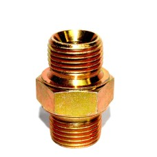 MS Double Nipple Hydraulic Hex Adapter Connector Male Light Series
